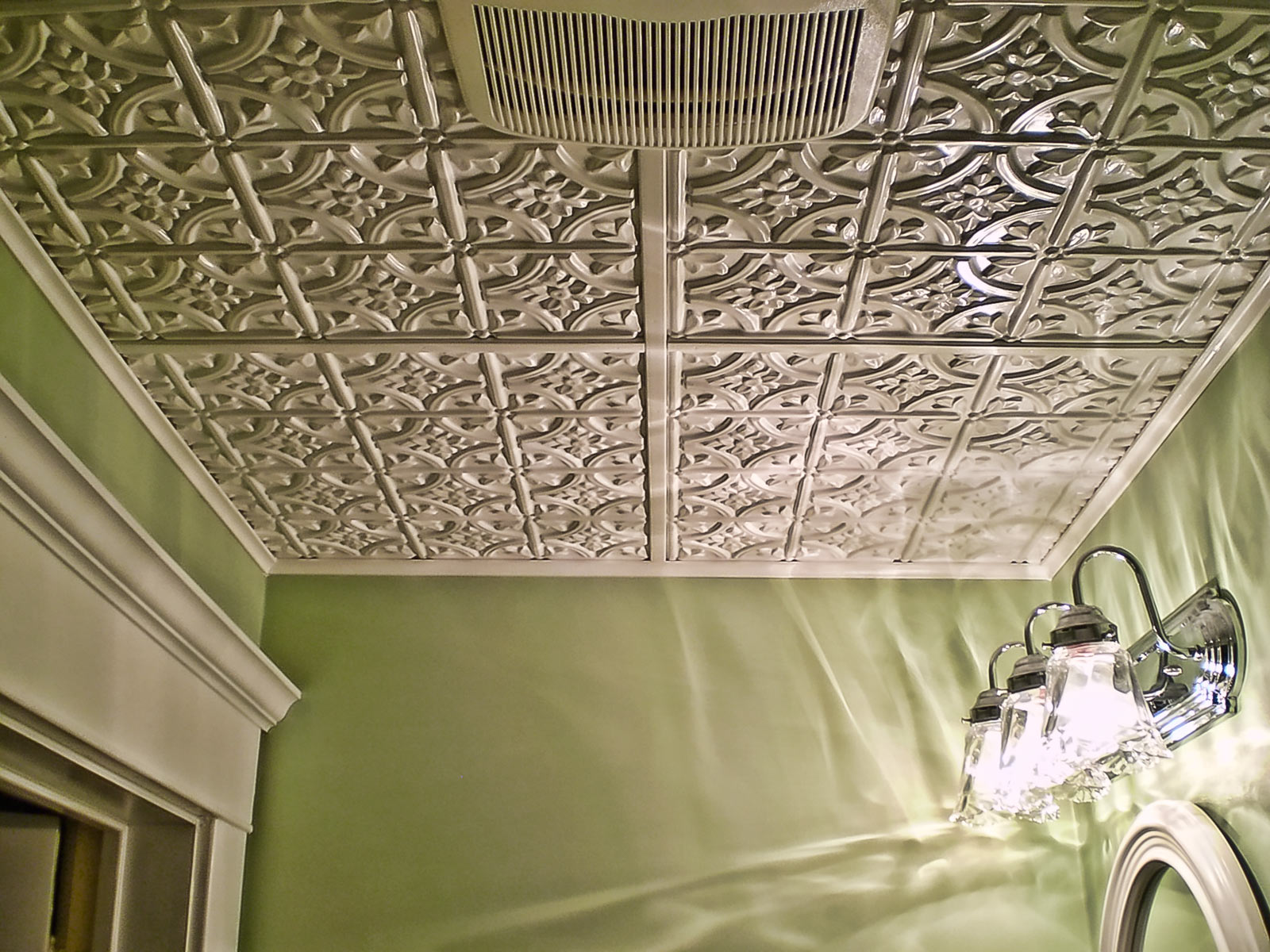 Decorative Bathroom Ceiling Tiles : Ct ceiling tile white