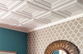 DuraClean Smooth Ceiling Tiles X Black Waterproof Tiles - Cleanable ceiling tiles