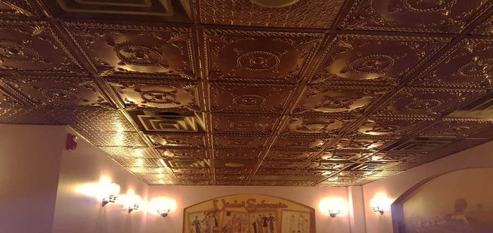 Alexander Bronze used as a Restaurant Ceiling Tile