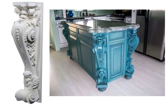 Decorative Corbels | Pilaster Corbel CB-1016 - uDecor