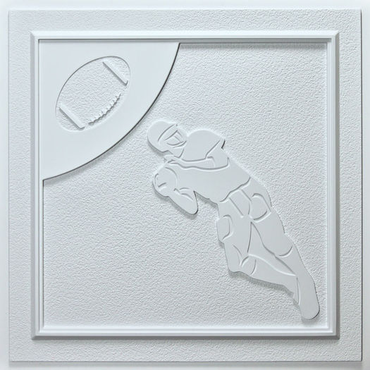 Football Ceiling Tile White Waterproof