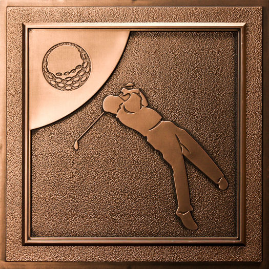 Golf Bronze Ceiling Tile