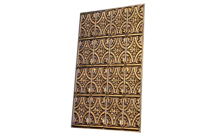 Profile of Verona Antique Gold 2x2 Ceiling Tile