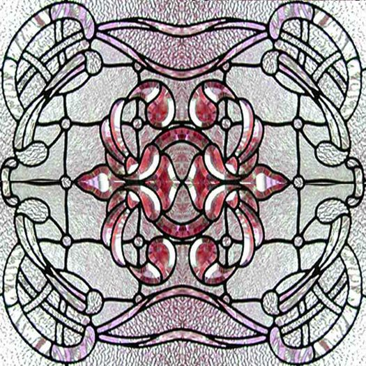 Stained Glass 8 Ceiling Tile