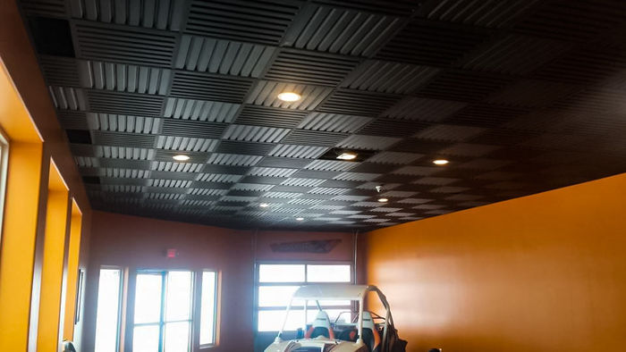 Southland Black Ceiling Tile used in a Garage