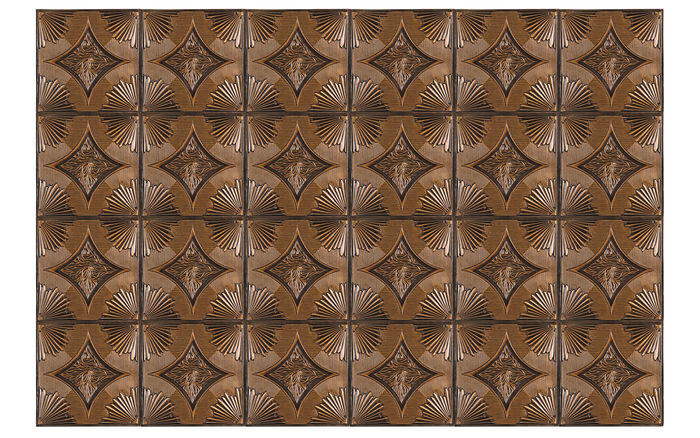 Ferrara Antique Gold Ceiling Tile in a Grid