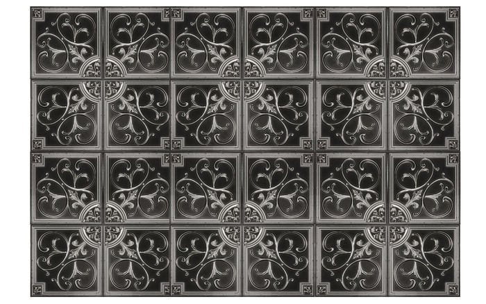 Florence Antique Silver Ceiling Tile in Grid