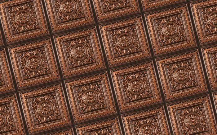 Antique Ceiling Tiles used in a 2x2 Grid
