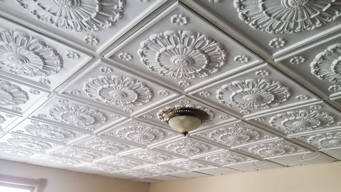 Medallion 2x2 Ceiling Tile Installed in a Grid