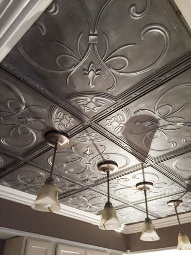 Installation Picture of the French Quarter Antique Ceiling Tile