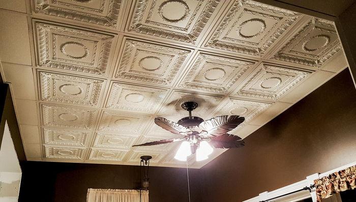 Drop Ceiling Tiles in an Elegant Room