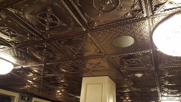 Installion of Alexander Bronze Ceiling Tiles in Grid