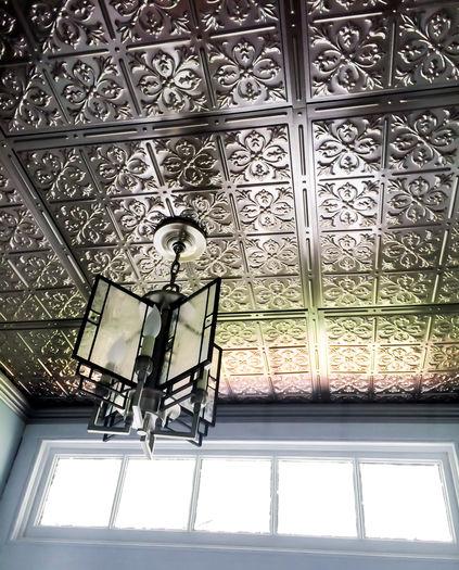 Fleur-de-lis Pewter Ceiling Tile Picture
