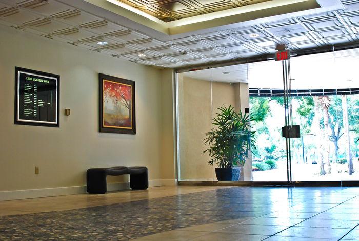 White Stratford tiles in a lobby