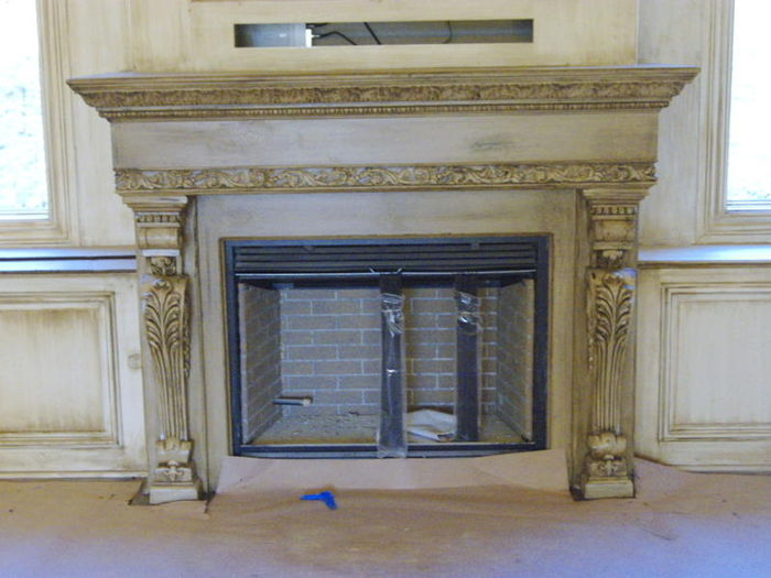 white pilaster decor
