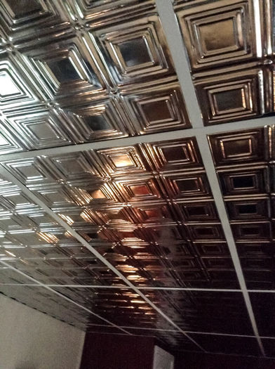 Tin Ceiling Tiles in Grid