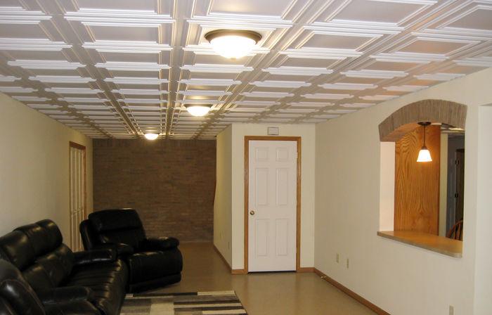 Cambridge White Ceiling Tile