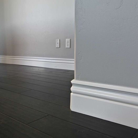 How to cut base molding in place - Installed Baseboard Moulding