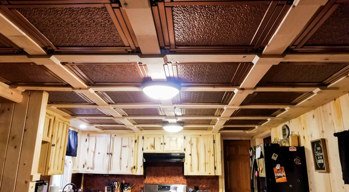 Palermo Suspended Ceiling Tile in Grid