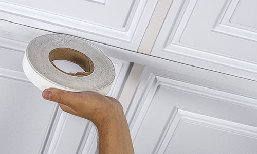 White Grid Tape used on a Ceiling Grid