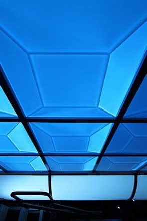 Light Shining Through a Translucent Ceiling Tile