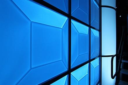 2x2 Translucent Ceiling Tile Illuminated from Behind