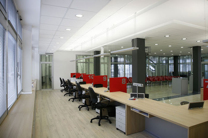 2x2 Acoustic Ceiling Tiles in Call Center