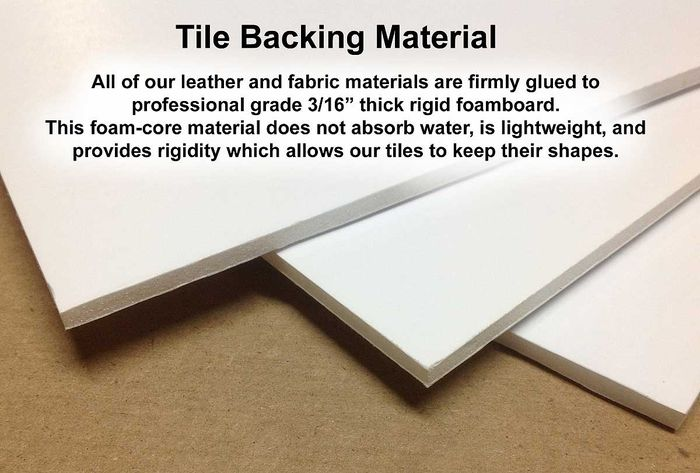 Backing of Leather Ceiling Tile