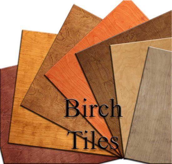 Birch Wood Ceiling Tiles