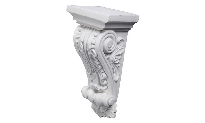 Side view fireplace corbel