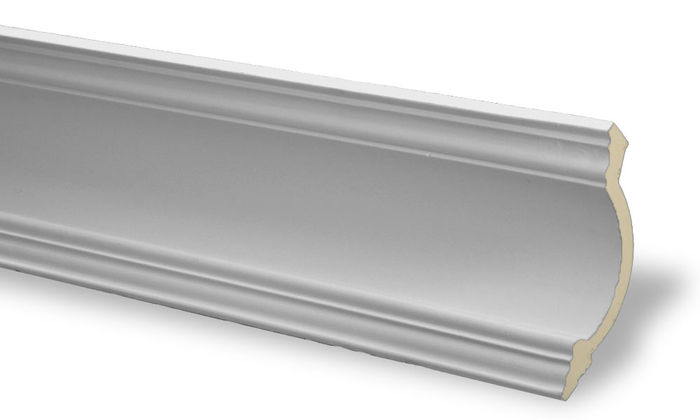 Side Crown Molding White
