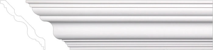 Front smooth crown moulding