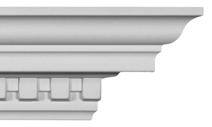 Front dentil crown molding
