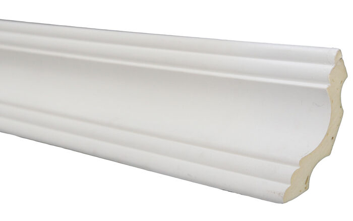Crown Molding 2-3//4 Height 96 Length Manufactured with a Dense Architectural Polyurethane Compound 7 moldings