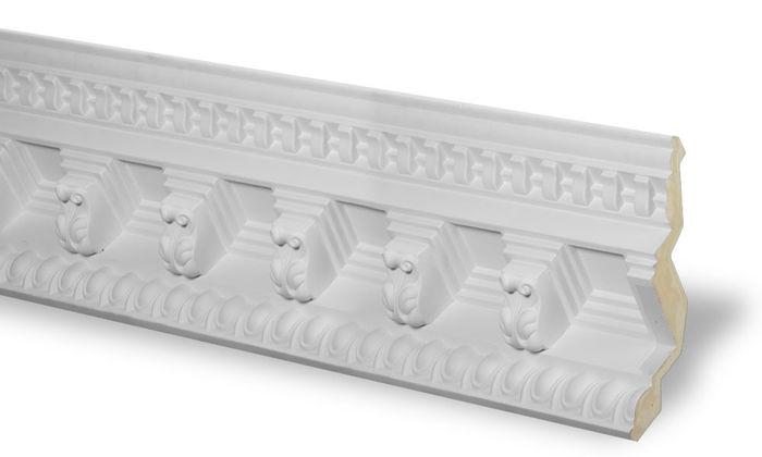 Side dentil crown molding