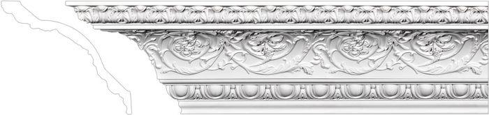 Front Decorative crown molding