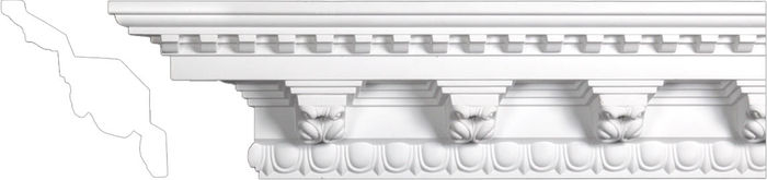 Front crown polyurethane molding