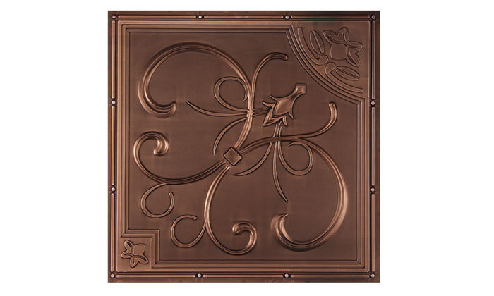French Quarter Antique Copper Ceiling Tile