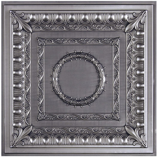 Faux Tin Ceiling Tile with Antique Finish