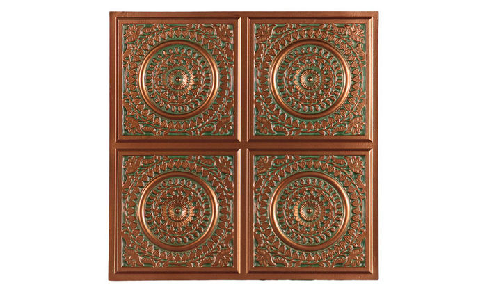 Catania 2x2 Patina Copper Ceiling Tile