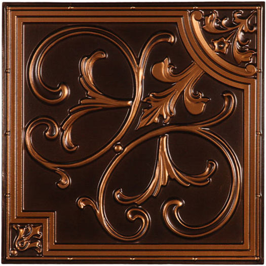 Florence Antique Copper Ceiling Tile
