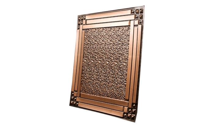 Profile of Palermo Antique Copper 2x2 Ceiling Tile