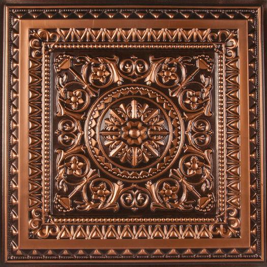 Ct 223 Ceiling Tile Antique Copper 2x4