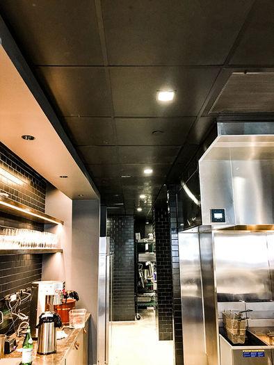 2x2 Black Kitchen Ceiling Tile