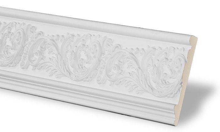 white flat molding