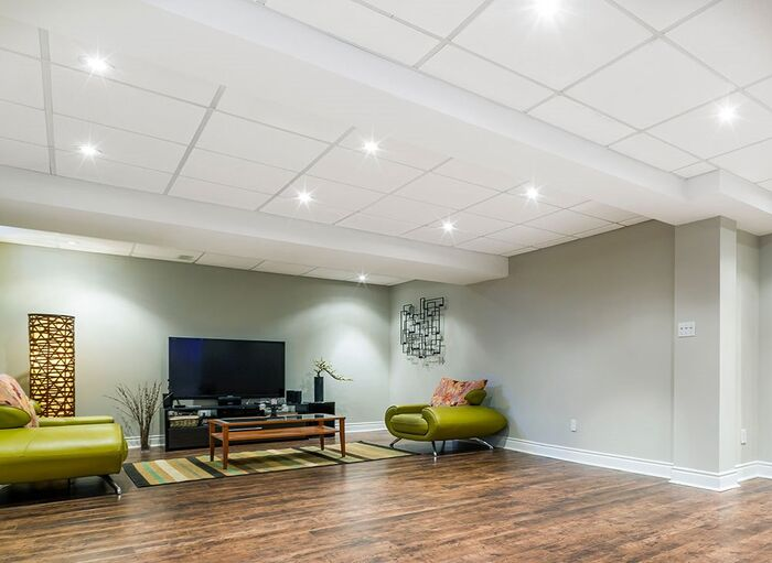 Echoguard used as a Basement Ceiling Tile