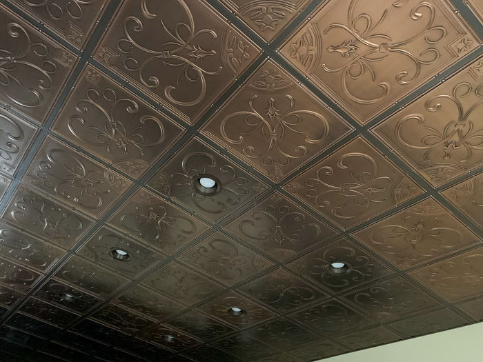 French Quarter Ceiling Tile in a Grid