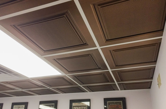 Customer Picture of Meridian Antique Bronze Ceiling Tile