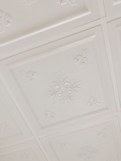 Veranda Ceiling Tile Installation