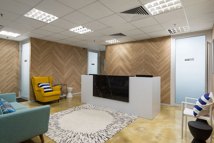 2x4 Mineral Fiber Tile in Reception Area